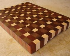 End Grain Cutting & Chopping Board by CMSWoodWorkShop on Etsy