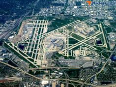 Chicago O'Hare Int'l (ORD) Airport aerial view