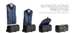 Preston bag, made in NYC, genius design for men or women who work, work out, travel and like stylish, form and function.