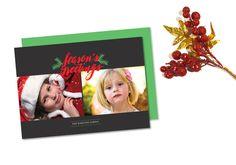 Season's Greeting Holiday Photo Card  @creativework247