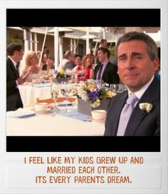 The Office Finale: I feel like all my kids grew up and married each other. It's every parent's dream.