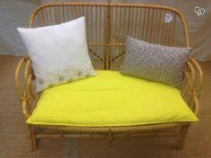 canapé rotin - 249€ avec coussins Happy Vintage 7 rue de madagascard 75012