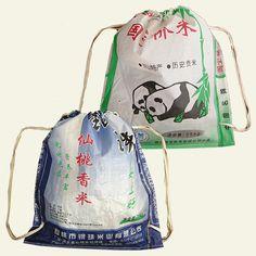reuseit Drawstring Shopping Bag, Recycled Rice Bag