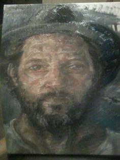 """""""Self in Austrian hat"""" Daniel Butterworth"""