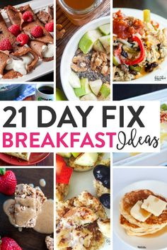 21 Day Fix Breakfast Ideas. Yummy and healthy breakfast recipes that work with Beachbody's container program from PiYo, Core De Force, and more! via @RandaDerkson