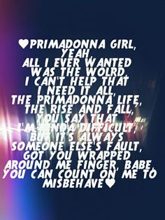 Primadonna- Marina and The Diamonds