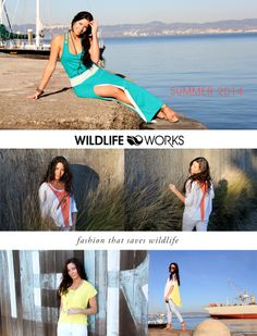 The lovely Cynamin showing off our SS14 line! If you're gearing up your wardrobe for spring, be sure to check out our newest completely organic collection.  http://shop.wildlifeworks.com/collections/ss14