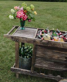 Neat bar idea. Garden Party Wedding, Wedding Decor, Wedding Reception, Wedding Ceremonies, Rustic Wedding, Garden Parties, Whimsical Wedding, Summer Parties, Wedding Bells