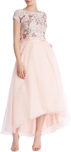 Womens blush iridessa hi low skirt from Coast - £95 at ClothingByColour.com