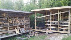 Lumber storage shed