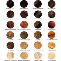 chi ionic permanent shine hair color chart - Google Search