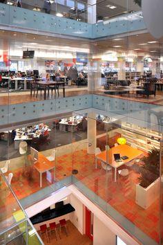 The four colourful floors of Rackspace's UK office