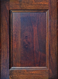 """Albany Flat Panel Door  Available Material: Alder, Maple and Paint Grade Color Shown: Mission Oak Stain on Alder Material Available in All Outside Profiles - Shown with 18"""" Roundover Outside Profile Mission Oak, Lakeside Cottage, Oak Stain, Face Framing, Custom Cabinetry, Panel Doors, Cabinet Doors, Color Show, Overlays"""