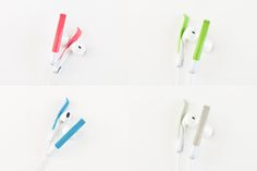 The Sprng clip has a soft tipped end that keeps the Earpods in place without adding any pressure. You get the custom fit by simply sliding the clip up or down the stem of the Earpod until you've got that comfortable fit. Gadgets And Gizmos, Apple Products, Wholesale Fashion, Inventions, Tech, Queen, Iphone, Fit, Technology
