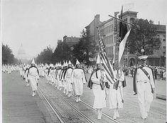 Ku Klux Klan - Female members march in Washington, D.C. in 1928