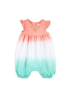 Dip dye all in one from Pumpkin Patch baby range, opal sizes 0-3m to 12-18m. Style S5BG20013.