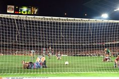 Oliver Kahn lies on the ground after Ole Gunnar Solskjaer's late winner