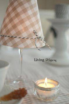 Living Maison: DIY: Kleine Lampe zur Tischdeko