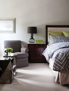 Refined Principal Bedroom   photo Donna Griffith   House & Home
