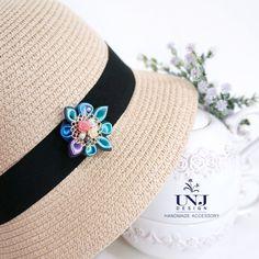 Blue Flower brooch / lapel pin _ Jewellery , Fabric brooch , Gift for women , Flower lapel pin , Kanzashi lapel pin by UNJdesign on Etsy