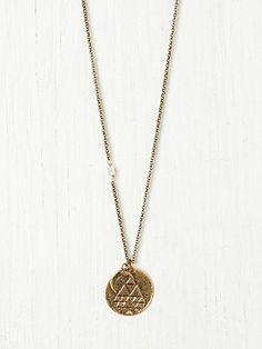Seasonal Moon Necklace: June #freepeople #birthstone #necklace