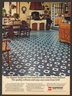 I want a vintage floor like this in my next kitchen.