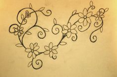 daisy chain flower tattoo- would be cool to do something like this around the ankle and onto the foot?