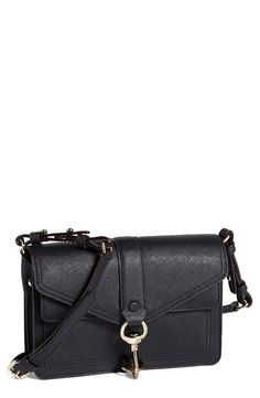 Free shipping and returns on Rebecca Minkoff 'Hudson Moto Mini' Crossbody Bag at Nordstrom.com. High-shine hardware secures a compact crossbody bag outlined in precise topstitching. Dual interior compartments allow for optimum organization, while an adjustable strap lets you customize the modern fit.