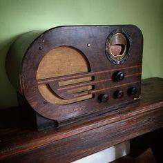 Vintage radio tube guitar amp.