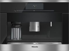 CVA 6805 - Built-in coffee machine with bean-to-cup system - the Miele all-rounder for the highest demands.--Stainless steel/CleanSteel