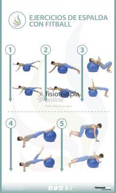 La tonificación o reprogramación de los músculos de la espalda, puede estar muy indicada en los casos en los que existe una inestabilidad lumbar, en estos casos, ejercicios en los que el paciente tenga que mantener una buena posición lumbar ante un desequilibriopueden ser muy útiles. En esta infografía, te ofrecemos 5 interesantes ejercicios para tonificar los músculos de la columna lumbar y dorsal.