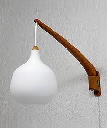 Wall lamp by Uno & Östen Kristansson, for Luxus, Sweden. Eclectic Furniture, Danish Furniture, Home Decor Lights, Home Lighting, Colour Blocking Interior, Ceiling Lamp, Ceiling Lights, Plug In Wall Sconce, Wall Accessories