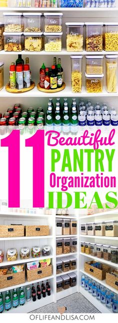 These kitchen pantry organization ideas are gorgeous. Click this pin to take a look and get inspired!