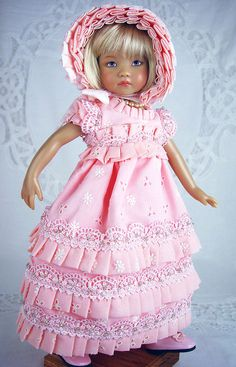 "Regency fits Effner 13, Little Darling; 13"" Dolls. Little Charmers Doll Designs #DollsClothingHistoricalDesign"