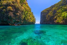 Ao Lo sa ma is snorkeling point famous tour lagoon in Phi Phi Islands Thailand Phuket Travel Guide, Thailand Travel Tips, Bangkok Travel, Visit Thailand, Best Beaches In Phuket, Best Places In Bangkok, Species Of Sharks, Best Rooftop Bars, Koh Samui