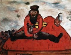 Marc Chagall - Between Surrealism & NeoPrimitivism - The Fiddler Marc Chagall, Pablo Picasso, Folklore Russe, Exotic Art, Orange Art, Modigliani, Jewish Art, True Art, Kandinsky