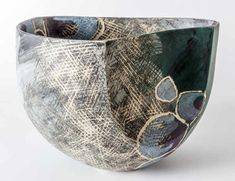 The Cecilia Colman Gallery specialises in unique, hand made modern glass and ceramics as well as unusual and exquisite pieces crafted from metal and wood. Pottery Painting, Ceramic Painting, Pottery Vase, Ceramic Pottery, Vases, Pottery Handbuilding, Black And White Painting, Ceramics Projects, Paperclay