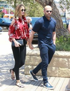 Rosie Huntington-Whiteley and Jason Statham Grab Lunch in Malibu