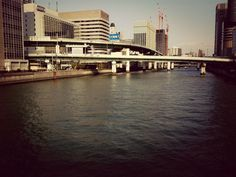 #cityscapes #river #building in Osaka, Japan, March 9, 2014