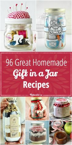 Great Homemade Gift in a Jar Recipes You'll love these homemade gifts in a jar recipes are easy and cheap to make! {squeal in delight} via love these homemade gifts in a jar recipes are easy and cheap to make! {squeal in delight} via Diy Holiday Gifts, Homemade Christmas Gifts, Xmas Gifts, Christmas Diy, Easy Homemade Gifts, Inexpensive Christmas Gifts, Homemade Gift Boxes, Easy Gifts To Make, Christmas Giveaways