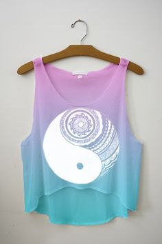 Aztec Yin Yang Full Print Crop Top - Check this board and catch a lot of outfits like this. Teen Fashion Outfits, Outfits For Teens, Cool Outfits, Summer Outfits, Fresh Tops, Leila, Cute Crop Tops, Cropped Tops, Crop Top Outfits
