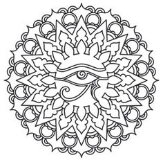 Eye of Ra Medallion | Urban Threads: Unique and Awesome Embroidery Designs
