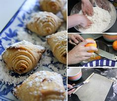 Sfogliatelle >> My all-time favorite treat! I should really try to make them. I get these for my birthday and Christmas morning.