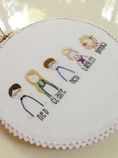 custom family child portrait of UP TO 4//bride groom//hand embroidered custom hoop wall art//made to order on Etsy, $42.00