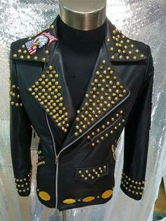 961abddcfc3 Customized Fashion Men s Rivets Leather Jacket Stage show Performance  Outerwear Nightclub Male Singer dancer outfit Stage Wear