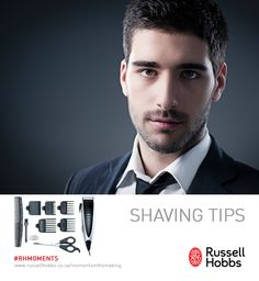 Looking a bit rugged after the weekend? Here are some electric razor shaving tips 1) keep your electric razor's blades clean, to prolong the life of the shaver 2) Replace dull blades and thin screens about every year to ensure that you obtain a good shave and avoid facial irritation 3) give your skin some time to adjust to electric razor shaving.