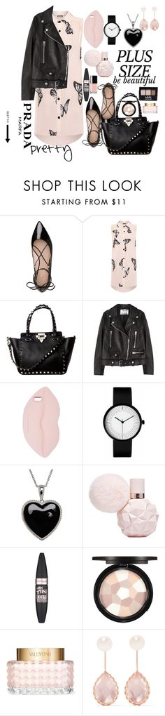 """""""you're all beautiful"""" by mfr-mtz ❤ liked on Polyvore featuring Kate Spade, WearAll, Acne Studios, STELLA McCARTNEY, Lord & Taylor, Maybelline, NYX, Valentino, Larkspur & Hawk and Prada"""