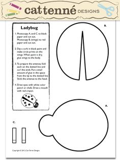 Free Lady Bug craft pattern