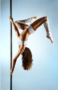 One of my favorite tricks to do! Pole tricks are great for exercise and toning…
