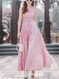 Buy Chic O-Neck Sleeveless Pure Color A-Line Dress with High Quality and Lovely Service at DressSure.com